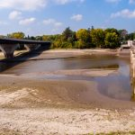 Photo by Rick Pepper - Low water, the Blue Earth river between the new(er) road bridge and the dam