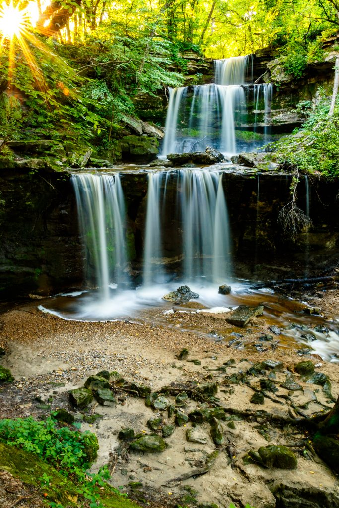 Photo by Rick Pepper - Triple Falls above the Blue Earth River