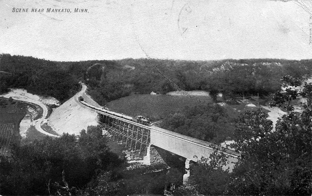 From History of the Red Jacket Valley by Julie A. Schrader - Postcard of the Red Jacket Trestle