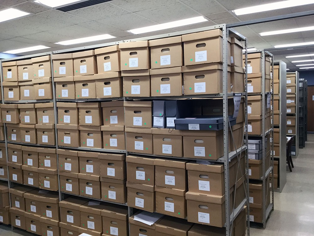 "Submitted Photo - ""University Archives"" is a photograph of the University Archives and Southern Minnesota Historical Center in Memorial Library at Minnesota State Mankato"