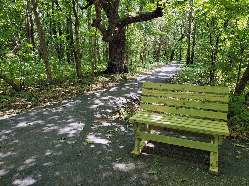 Submitted Photo - Williams Nature Center - Shady rest stop on the trail