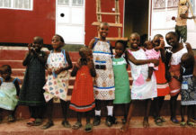 Submitted Photo - Some of the recipients of The Little Dresses project