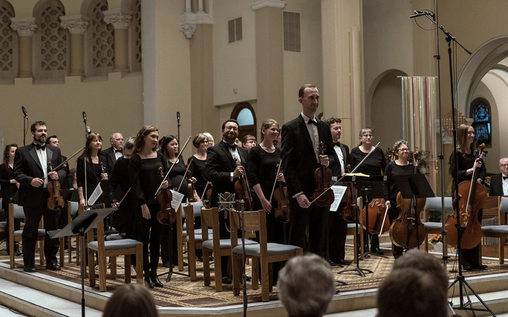 Submitted Photo - The Mankato Symphony Orchestra's performance of Handel's Messiah at the Good Counsel chapel in 2019