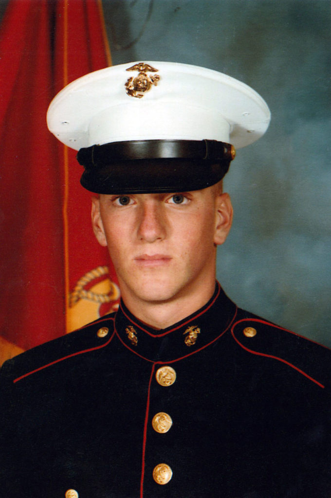 Submitted Phto - Bradley Webb early in his Marine Corps career.