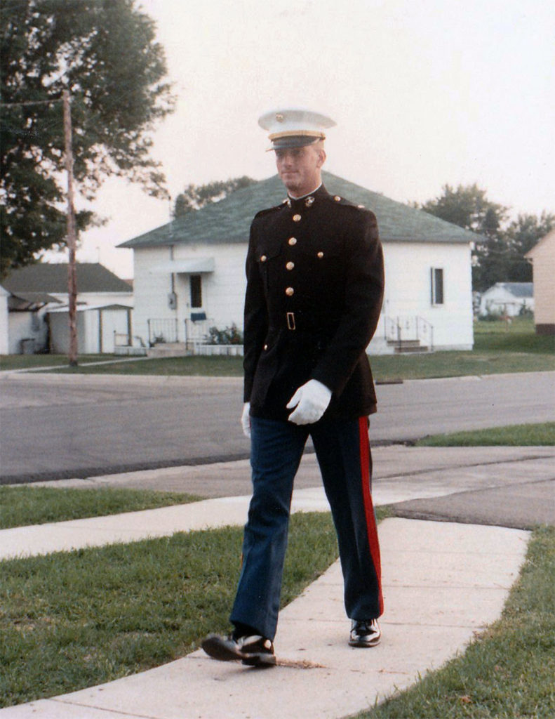 Submitted Photo - Bradley Webb shortly after his commission into the Marine Corps.