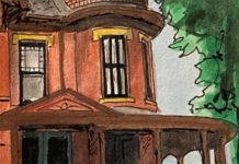 Submitted Image – One of Garrett Steinberg's watercolor creations, which combines his love of history and art.