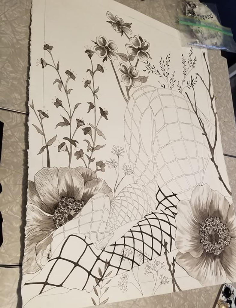 Submitted Image - Fishnets and Flowers by Beth Ann Hamilton