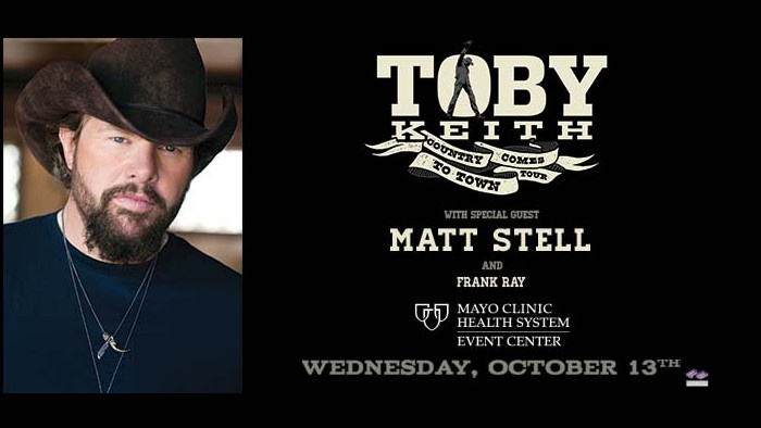 SEvent Mayo Clinic Health Services Event Center Live Music - Toby Keith